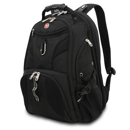 Black SwissGear Scan Smart Backpack