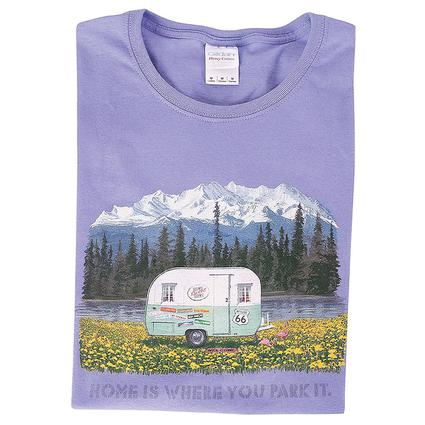 Home Is Where You Park It Vintage Trailer Tee, Large