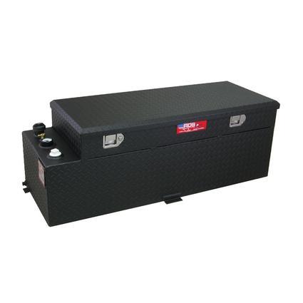 Black Powder Coat Transfer Fuel Tank & Toolbox Combo, 60 Gallon