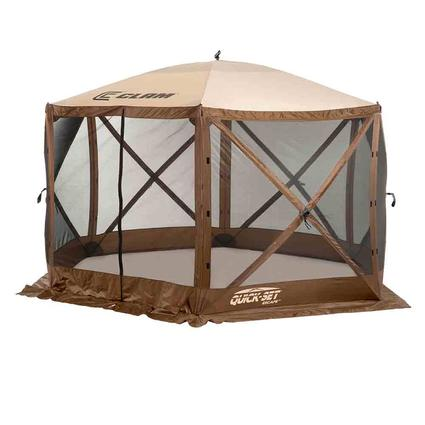 Escape Screen Shelter - 6 Side with Wind Panel Flaps