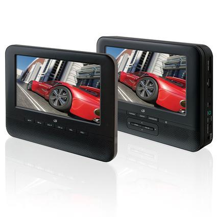 7 Dual Screen Portable DVD Player