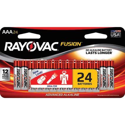 Rayovac Fusion AAA Batteries, 24 Pack