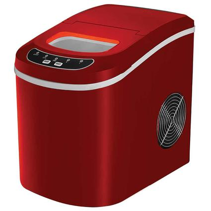 Small Portable Ice Maker, Red