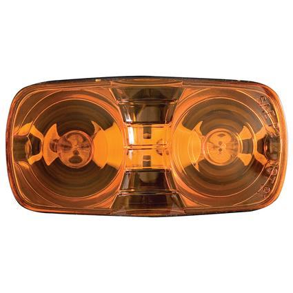 Clearance/Marker Light amber, dual bulb, black base