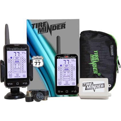 TireMinder TM-77 Tire Pressure Monitoring System with 6 Transmitters for RVs, MotorHomes, 5th Wheels, Motor Coaches and Trailers