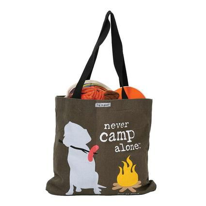 Dog is Good Never Camp Alone Tote