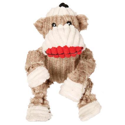 Mini Sock Monkey Dog Toy