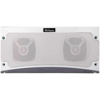 KING RV Media Outdoor Bluetooth Speaker LED Awning Light, White