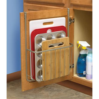 Over-Cabinet Cutting Board and Bakeware Holder