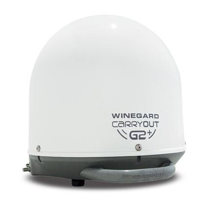 Winegard Carryout G2+ Portable Satellite Antenna, White