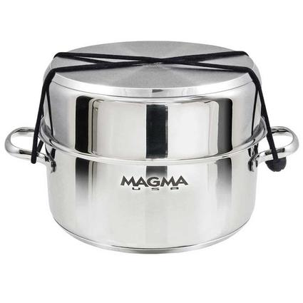 "Magma 10-Piece ""Nesting"" Stainless Steel Induction Cookware Set with Ceramica Non-Stick"