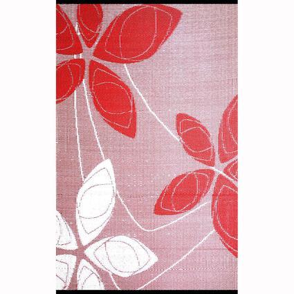 Alaska Red/White Reversible Outdoor Rug, 5 x 8