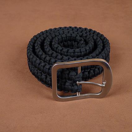 Black Paracord Survival Belt, Small