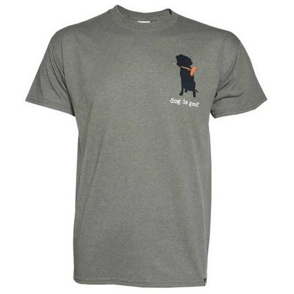 Dog is Good Never Camp Alone Tee Shirt, XL