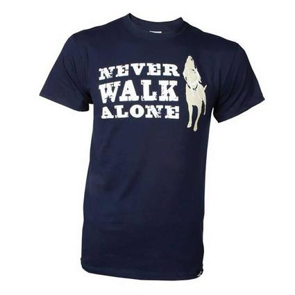 Dog is Good Never Walk Alone Tee Shirt, Medium
