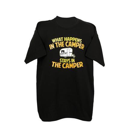 Mens In the Camper Tee, Black Large