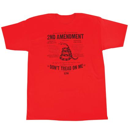 Men's Don't Tread On Me Tee, Red XXL