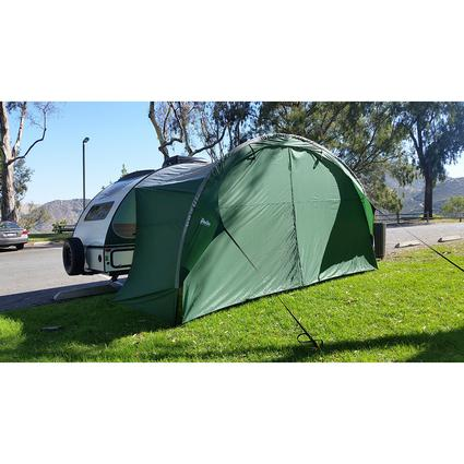 PahaQue R-Pod Awning Solid Front Wall, Green