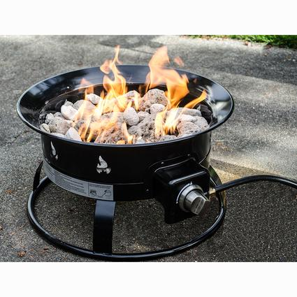 Portable Propane Outdoor Fire Pit - Portable Propane Outdoor Fire Pit - Heininger 5995 - Fire Pits