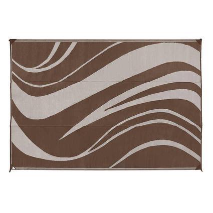 Reversible Wave Design Patio Mat 9 X 12 Brown Direcsource Ltd