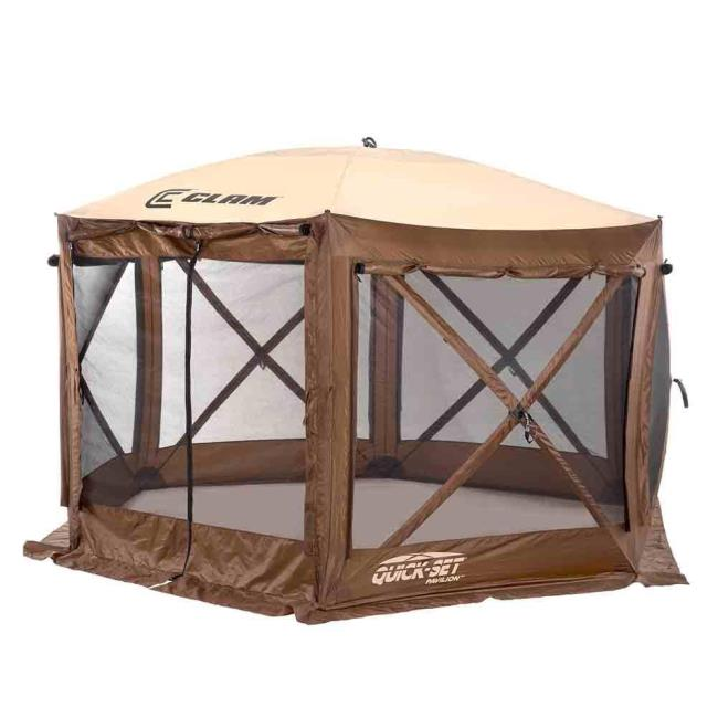 Image Pavilion Screen Shelter - 6 side DLX - Zip Down Sides. To Enlarge the .  sc 1 st  C&ing World & Pavilion Screen Shelter - 6 side DLX - Zip Down Sides - Clam ...