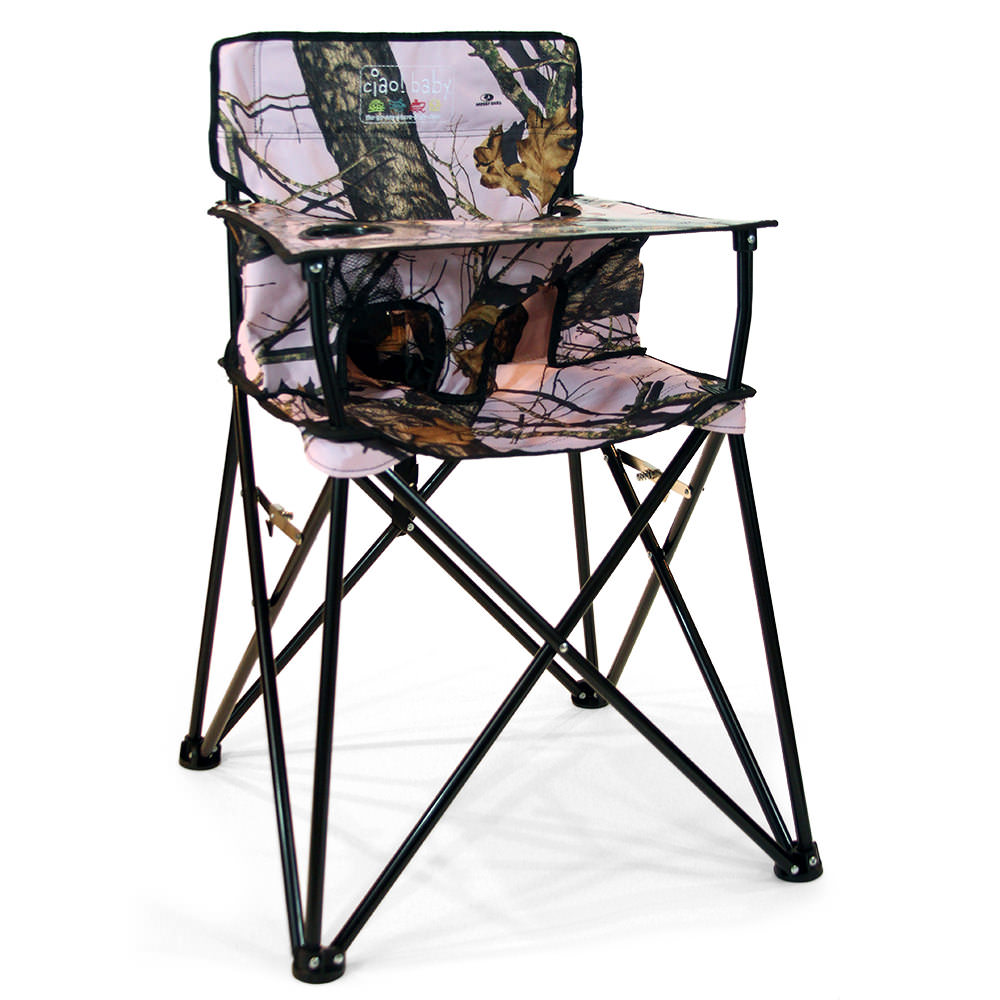 Baby Go-Anywhere-Highchair, Pink Mossy Oak - Jamberly HB2014 Kid\u0027s Chairs Camping World