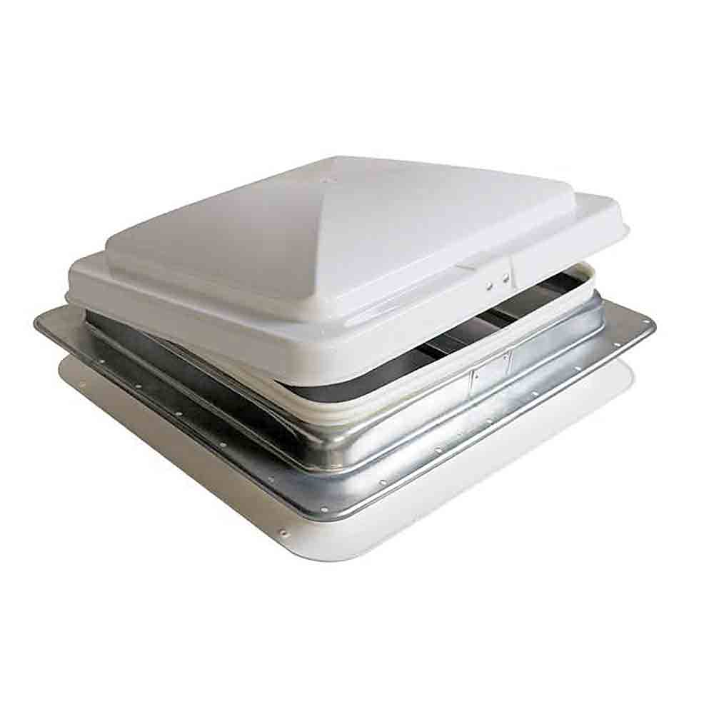 roof vent white lid hengs industries 71111 c1g1 vents camping world - Trailer Roof Vent