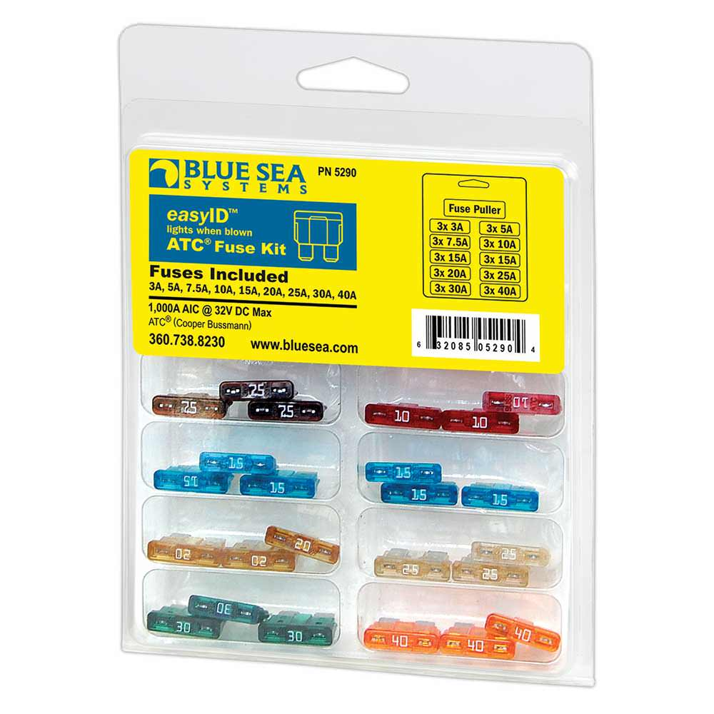 Easyid Fuse Kit Blue Sea Systems Inc 5290 Battery Accessories Carrier Blowing 3 Amp Camping World