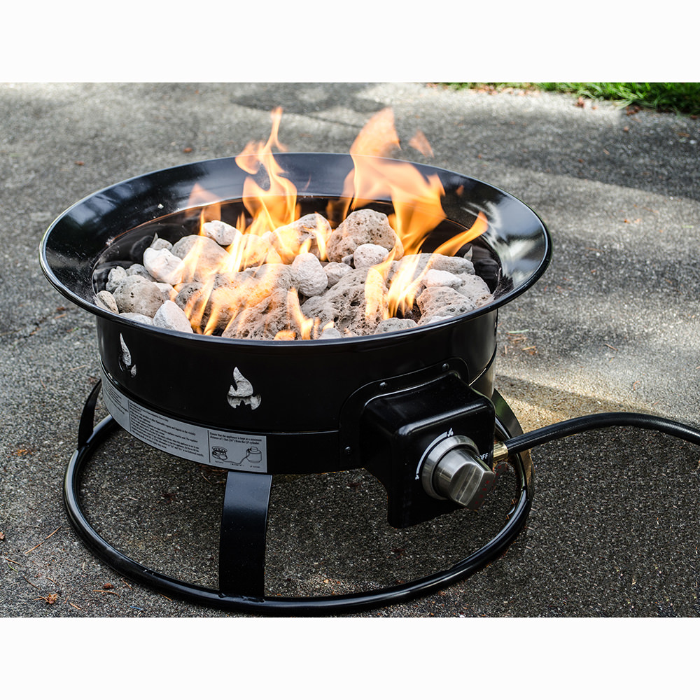 Portable propane outdoor fire pit heininger 5995 fire pits camping world