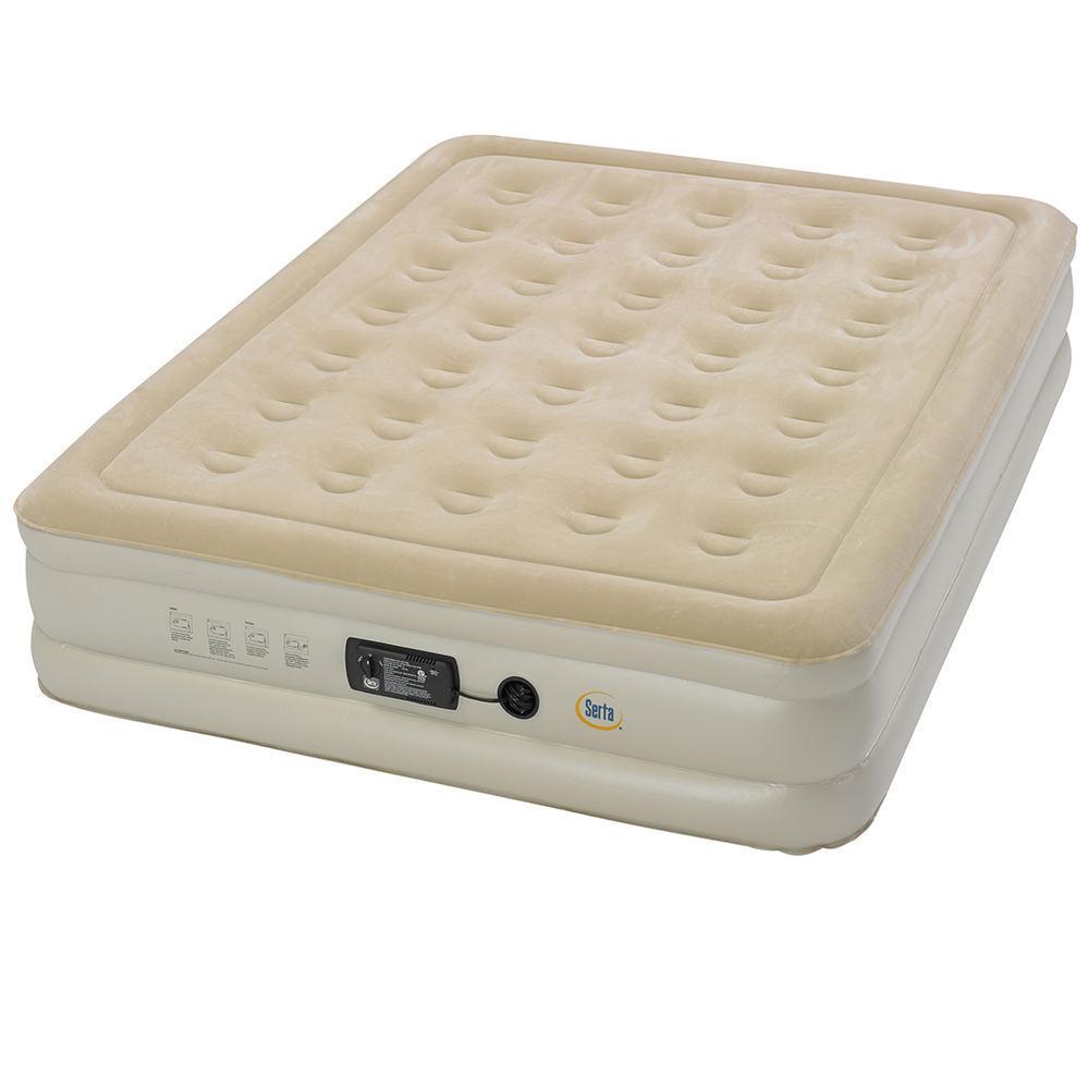 serta raised queen air mattress with insta iii ac pump american recreational st840015 pads. Black Bedroom Furniture Sets. Home Design Ideas