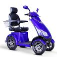 3-Wheel Scooter with Electromagnetic Brakes, Blue