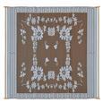 Reversible Floral Design Patio Mat, 9' x 12', Brown/White