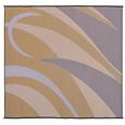 Reversible Graphic Design Patio Mat, 8' x 16', Brown/Gold
