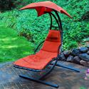 Cloud 9 Hanging Chaise Lounger, Orange