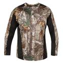 Realtree Men's Long Sleeve Active Tee, Black, XL