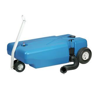 Barker 4-Wheel Tote-Along Portable Waste Tank, 42 Gallon