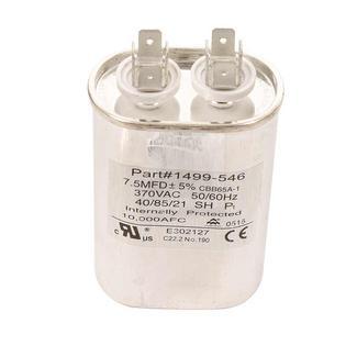Capacitor, Fan/Run (7.5 Mfd, 370 VAC, 50-60 Hz)