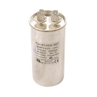 Capacitor, Fan/Run (30 Mfd, 370 VAC, 50-60 Hz)