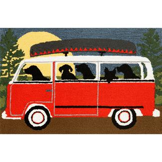 "Red Camping Trip Rug, 24"" x 36"""