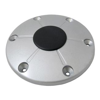Redwood Floor Base and Cap, Silver