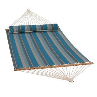 Quick Dry Hammock with Pillow, Ocean Stripe - 13'