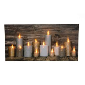 Lighted Candle Canvas Art