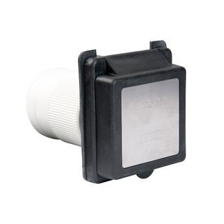 50A 125&#x2f&#x3b;250V Standard RV Power Inlet, Black