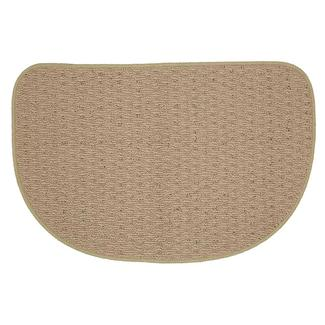 "Solid Color Kitchen & Accent Slice Rugs, 18"" x 27"", Tan"