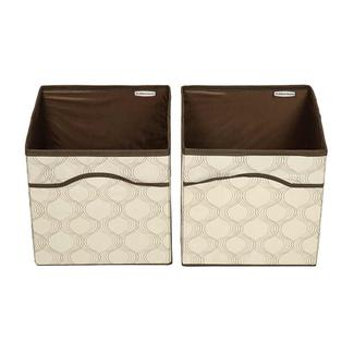 Square Canvas Bins, 2-pack