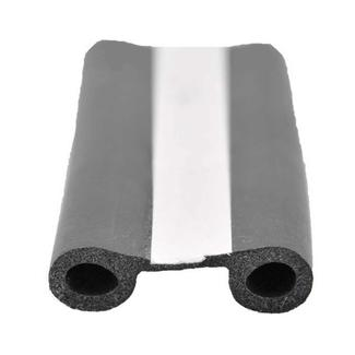 EPDM Double Bulb Seal with Tape, Black