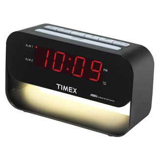 Timex Dual Alarm Clock with USB Charging and Night Light