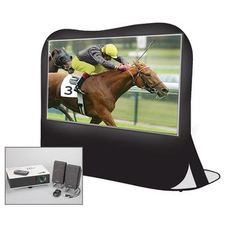 "Sima 84"" Portable Projection Pop Up Screen Theater Kit"