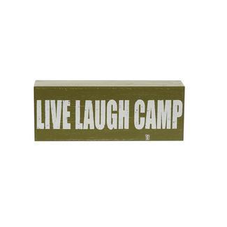 Wooden Camp Art, Live Laugh Camp, Green