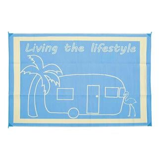Living the Lifestyle Design Patio Mat, 9' x 12', Blue